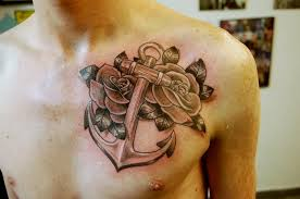 anchor and roses for shane by dotworkdamian on deviantart