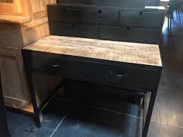 bureau industriel bois et metal bureaux la maison du teck meuble et déco en teck