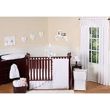 Design Crib Bedding Sweet Jojo Designs Eyelet Crib Bedding Collection In White Bed