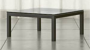 Glass Top Square Coffee Table Parsons Clear Glass Top Steel Base 36x36 Square Coffee Table
