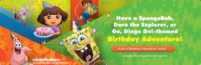 book birthday adventure today spongebob dora explorer