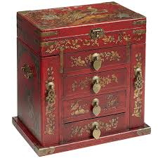 red home decor accessories red peacock jewellery box pier one love the asian style