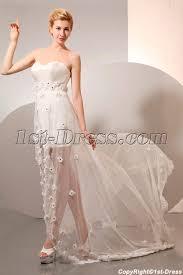 high low summer chiffon beach wedding dress 1st dress com