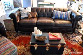sofa lovely pottery barn tufted leather sofa chesterfield