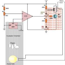 incubator temperature controller circuit using lm35 ic