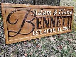 Family Wood Sign Home Decor Amazon Com Personalized Family Name Sign Personalized Wedding