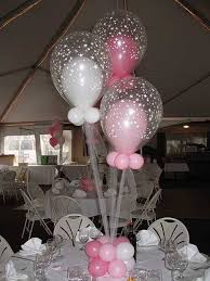 balloons in balloons centerpiece pink u0026 white balloons in star