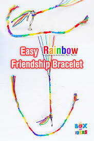 colorful and easy kids craft rainbow friendship bracelet for