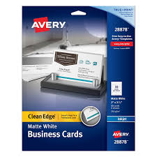 Template For Business Cards 10 Per Sheet by Amazon Com Avery Clean Edge Business Cards 2 Inches X 3 1 2