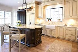 distressed black kitchen cabinets with granite countertops timeles