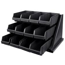 Leather Desk Organizer by Cambro 12rs12110 Versa Black Self Serve 3 Tier Condiment Stand