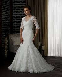 mermaid wedding dress lace sleeves naf dresses