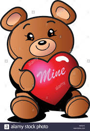 be mine teddy s day teddy with heart that says mine stock