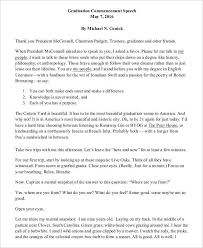 8 graduation speech exles sles pdf