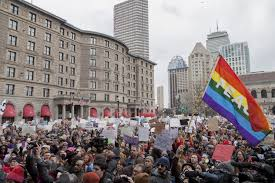 thousands protest immigration order in boston news the harvard
