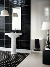 mcintyre bills u0027 black white bathroom bath with black tiles on the