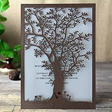 tree wedding invitations rustic tree wedding invitation laser cut tree