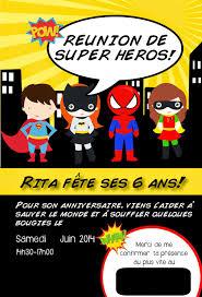 Superhero Invitation Card Cuteness Alert Super Heros Birthday Invitations Epingler C U0027est