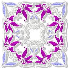 Purple Lillies Pamela U0027s Embroidery Purple Lilies Blocks
