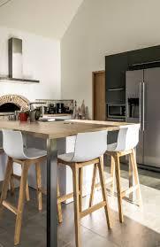 ilot cuisine bois ilot bois cuisine deco cuisine blanc et bois cuisine