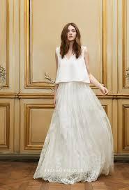 two wedding dress sleeveless floor length a line fashion bohemian two wedding