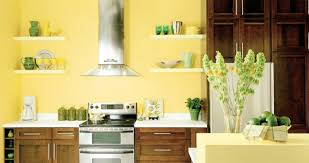 Kitchen Yellow Walls - wall design for kitchen u2013 furnishing solutions for every taste