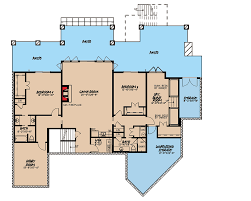 rustic house plan with 4 beds and a bunk room 70534mk