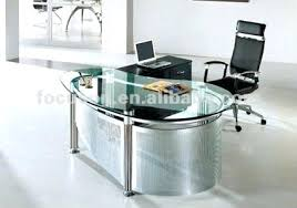 Modern Glass Executive Desk Glass Top Office Desk Bemine Co
