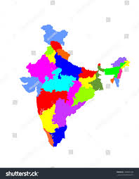 India States Map Vector Map Republic India States Colored Stock Vector 180860108