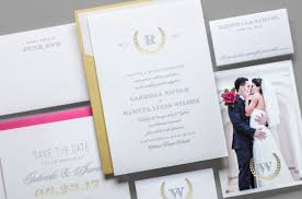 classic wedding invitations friday feature classic wedding invitations with modern laurel