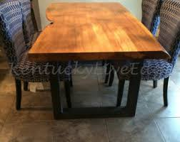 Natural Wood Dining Room Sets Live Edge Dining Table Made To Order Custom Dining Table