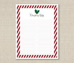 gift list printable ashlee proffitt