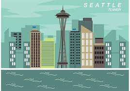 seattle space needle vector free vector stock