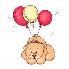 teddy balloons teddy and balloons stock vector chistoprudnaya 9723993