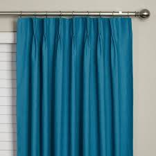 pinch pleat curtains blue home decorations pinch pleat