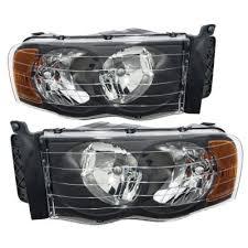 2003 dodge ram tail lights dodge ram 2500 2003 2005 black headlights and tinted led tail lights