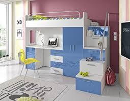 bureau enfant moderne furnistad lit mezzanine moderne pour enfant sky avec bureau et