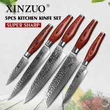 set of kitchen knives damascus knives set kitchen knives promotion shop for promotional