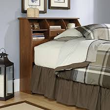 Sauder White Bookcase by Sauder Shoal Creek Jamocha Wood Twin Headboard 412091 The Home Depot