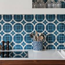Moroccan Tiles Kitchen Backsplash by Popham Design Cement Tiles Handmade In Morocco
