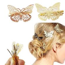 butterfly hair yueton pack of 2 golden butterfly hair clip hair