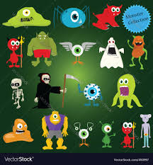monsters halloween halloween monsters royalty free vector image vectorstock