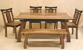 kitchen accent wooden dining table light wooden bench accent