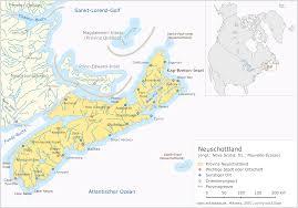 Map Of Nova Scotia Map Of Nova Scotia Map Cities German Worldofmaps Net Online