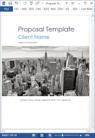 new 10 business proposal templates ms word and excel