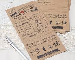 advice cards for and groom wedding advice cards etsy
