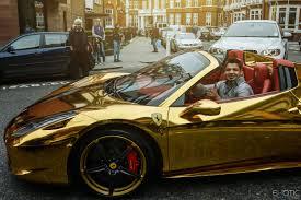 gold ferrari 458 che c u0027è anche una ferrari oro cromo oro ferrari 458 spider