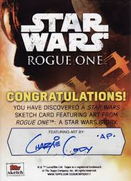 Star Wars Congratulations Card The Making Of Star Wars Sketch Cards