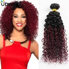 curly hair extensions ombre curly hair extensions two tone ombre human hair weft 4pcs 8