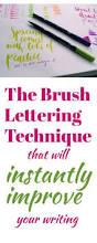 learn brush lettering brush lettering hand lettering and